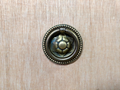 CENTURY FURNITURE ROSETTE ANTIQUE BRASS DRAWER RING PULL