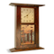 "Schlabaugh and Sons Clock with Motawi Autumn Woodlands 6x8"" Tile. Clock shown is solid oak with craftsman oak finish."