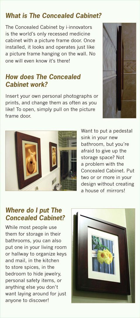 About Our Concealed Cabinets