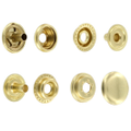 Line 24 Snaps, Cap 15mm, Ring Socket, Natural Brass, S15B51LN, Solid Brass (100 per bag)