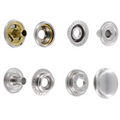 Line 24 Snaps, Cap 15mm, Ring Socket, Nickel Plate, S15B51LN, Solid Brass (100 per bag)