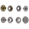 Line 24 Snaps, Cap 15mm, Ring Socket, Nickel Matte, S15B51LN, Solid Brass (100 per bag)