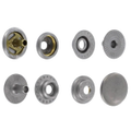 Line 20 Snaps, Cap 12.7mm, Ring Socket, Nickel Matte, S127B50-LP, Solid Brass (100 per bag)