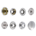 Line 20 Snaps, Cap 12.7mm, Ring Socket, Nickel Plate, S127B50-LP, Solid Brass (100 per bag)