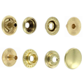 Line 20 Snaps, Cap 12.7mm, Ring Socket, Natural Brass, S127B50-LP, Solid Brass-LL (100 per bag)