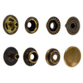 Line 20 Snaps, Cap 12.7mm, Ring Socket, Antique Brass, S127B50-LP, Solid Brass-LL (100 per bag)