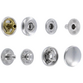 S127B10-LP Snap Button, Cap 12.7mm, Long Post, S-Spring Socket, Nickel Plate, Solid Brass-LL (100 sets per bag)
