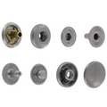 S127B10-LP Snap Button, Cap 12.7mm, Long Post, S-Spring Socket, Nickel Matte, Solid Brass-LL (100 sets per bag)