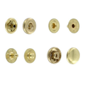 SN10B11 Snap Button, Cap 10mm, S-Spring Socket, Natural Brass, Solid Brass (100 per bag)