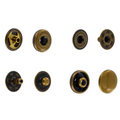 SN10B11 Snap Button, Cap 10mm, S-Spring Socket, Antique Brass, Solid Brass (100 sets per bag)