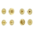 SNHB11 Snap Button, Hidden Cap, S-Spring Socket, Natural Brass, Solid Brass-LL (100 per bag)