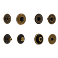 SNHB11 Snap Button, Hidden Cap, S-Spring Socket, Antique, Solid Brass (100 per bag)