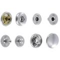 SN127B10-SP Snap Button, Cap 12.7mm, Short Post, S-Spring Socket, Nickel Plate, Solid Brass (100 sets per bag)