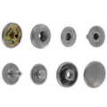 SN127B10-SP Snap Button, Cap 12.7mm, Short Post, S-Spring Socket, Nickel Matte, Solid Brass (100 sets per bag)