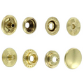 SN127B50-SP Snap Button, Cap 12.7mm, Short Post, Ring Socket, Natural Brass, Solid Brass (100 per bag)
