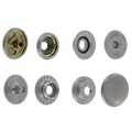 SN127B50-SP Snap Button, Cap 12.7mm, Short Post, Ring Socket, Nickel Matte, Solid Brass (100 sets per bag)