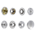 SN127B50-SP Snap Button, Cap 12.7mm, Short Post, Ring Socket, Nickel Plate, Solid Brass (100 sets per bag)