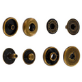 SNHB10 Snap Button, Hidden Cap, S-Spring Socket, Antique Brass, Solid Brass (100 sets per bag)