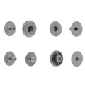SNHB11 Snap Button, Hidden Cap, S-Spring Socket, Nickel Matte, Solid Brass (100 sets per bag)