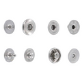 SNHB11 Snap Button, Hidden Cap, S-Spring Socket, Nickel Plate, Solid Brass (100 sets per bag)