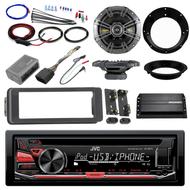 "98-2013 Harley Install AUX CD Adapter Kit, Kicker Amplifier, 6.5"" Speaker Set"