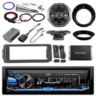 "98-2013 Bluetooth AUX Harley FLHT Adapter Kit, Amplifier Set, 6.5"" Kicker Set"