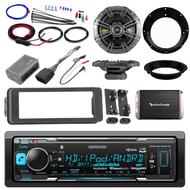 HD Bluetooth Harley 98-2013 FLHTC Install Adapter Kit,Amplifier,Kicker Speaker Set