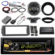 """Scosche Harley FLHT Install Bluetooth CD Adapter Kit,Kicker Amp,6.5"""" Speaker Set"""