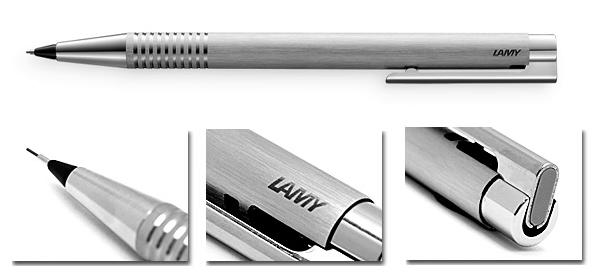 Bút chì Lamy Logo - Màu thép xước (Brushed) - L106