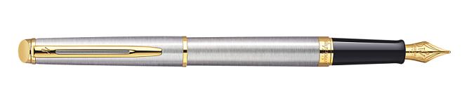 Bút Waterman Hemisphere Essential Gold Trim Stainless Steel S0920330 tinh xảo
