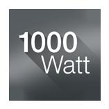 công suất cực khủng 1000w