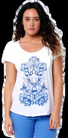 Animal Womens Top Acie Design in White.