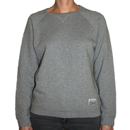 Silverstick Womens Sweat Shirt Beau Design in Ash.