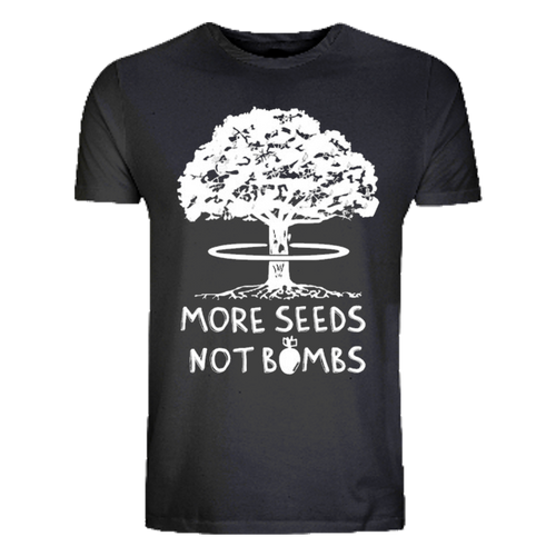 Kahuna Men's T-Shirt More Seeds Design. Front view.