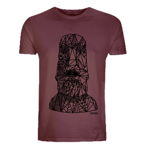 Kahuna Men's T-Shirt Easter Island Mask Design. Front view.