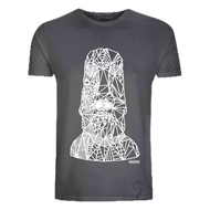 Kahuna Men's T-Shirt Easter Island Mask Design. Front view.