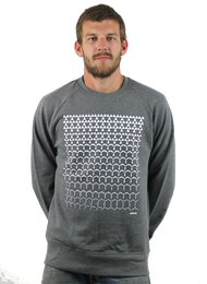 Kahuna Mens Jumper Revolutions Design in Dark Heather.