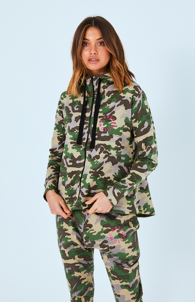 Dion Zip Up Jacket - Army