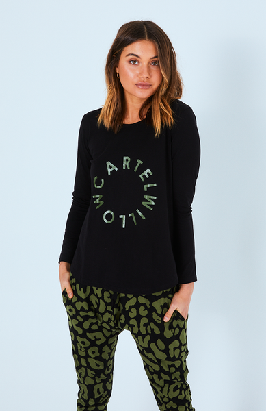 Orbit Logo Long Sleeve Top - Khaki Orbit