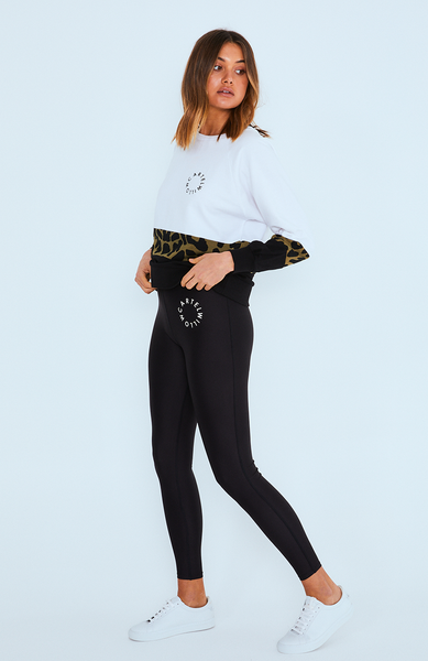 Cora Leggings - Black/White Orbit