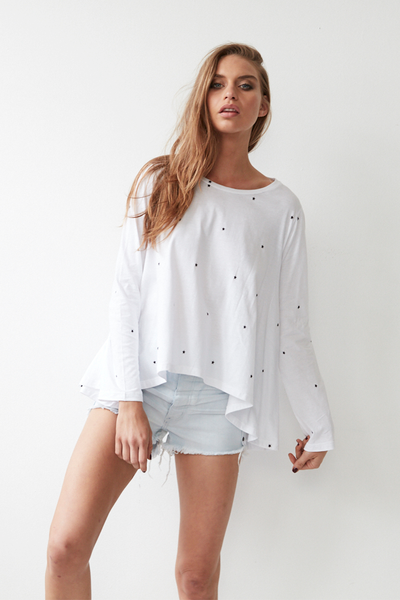 Dexter Longsleeve Top - White Star