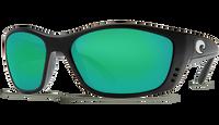 Costa Del Mar™ Polarized 580G Sunglasses: Fisch in Black & Green Mirror Lens