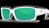 Costa Del Mar™ Polarized 580G Sunglasses: Caballito in White-Black & Green Mirror Lens