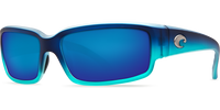 Costa Del Mar Caballito 580P Polarized Sunglasses in Matte Caribbean Fade & Blue Mirror Lenses