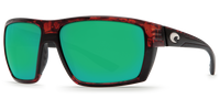 Costa Del Mar Hamlin 580G Polarized Sunglasses, Tortoise with Green Mirror