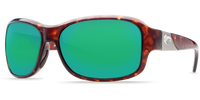 Costa Del Mar Inlet 580P Polarized Sunglasses in Tortoise with Green Mirror Lens