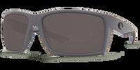 Costa Del Mar Reefton 580P Polarized Sunglasses in Matte Grey with Grey Lenses