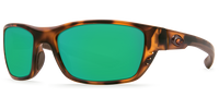 Costa Del Mar Whitetip Polarized Sunglasses in Matte Tortoise with Green Mirror 580P Lens