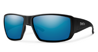 Smith Optic Guides Choice Matte Black Chromapop Polarized Blue Mirror Sunglasses