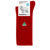 Humphrey Law Merino Wool Blend Knee High Sock Red